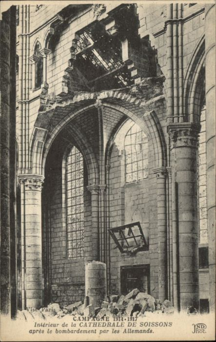 Soissons Soissons Cathedrale Zerstoerung * /  /