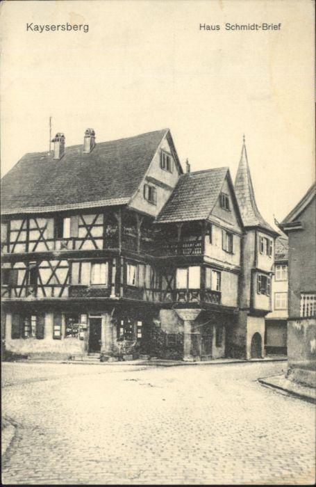 Kaysersberg Haus Schmidt Brief *