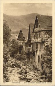 Kaysersberg Vieilles Maisons au bord de la Riviere *