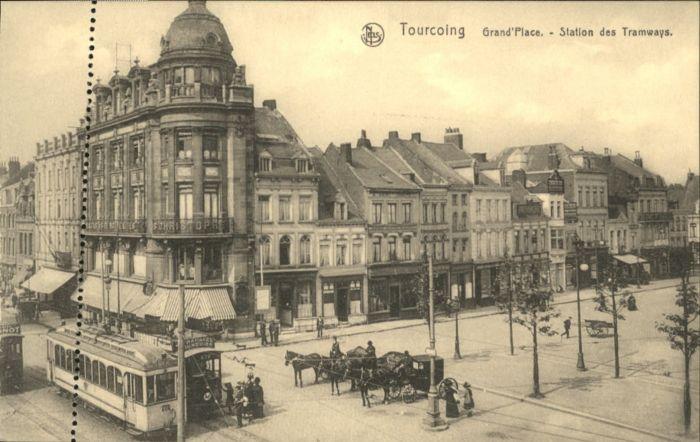 Tourcoing Strassenbahn Grand Place Station Tramways *
