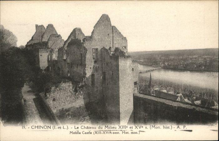 Chinon Le Chateau du Milieu *