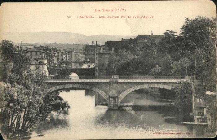 Castres Les quatre Ponts sur l'Agout *