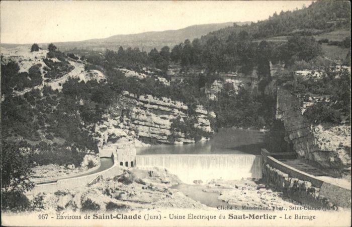 Saint-Claude Usine Electrique du Saint-Mortier le Barrage *