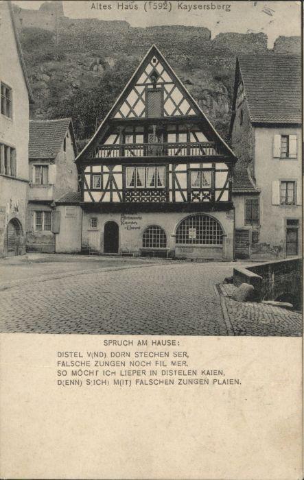 Kaysersberg Altes Haus Spruch x