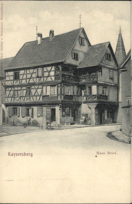 Kaysersberg Haus Brief *