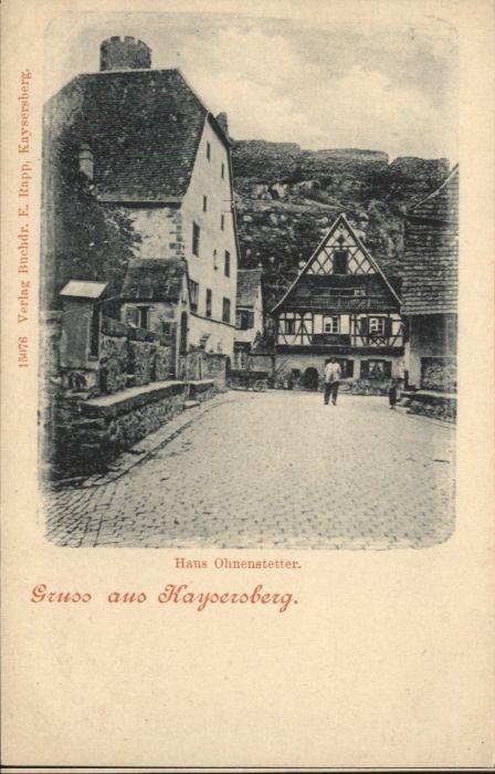 Kaysersberg Haus Ohnenstetter *