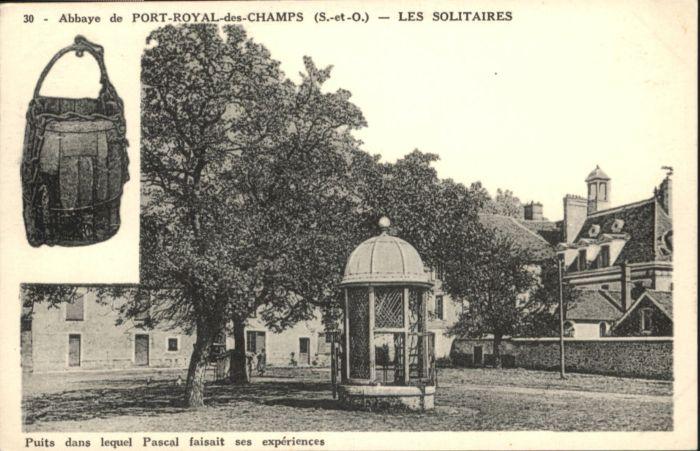 Port-Royal-des-Champs Abbaye Slitaires *