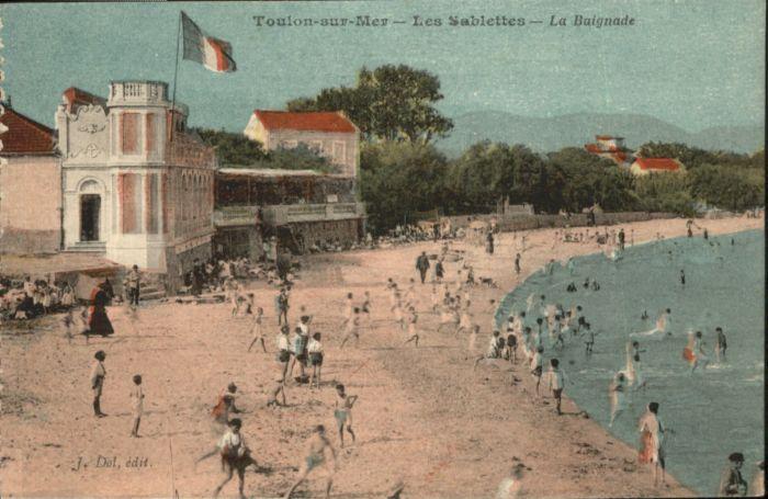 Toulon-sur-Mer Sablettes Baignade x