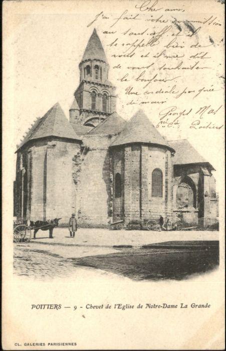 Poitiers Chevet Eglise Notre-Dame Grande x