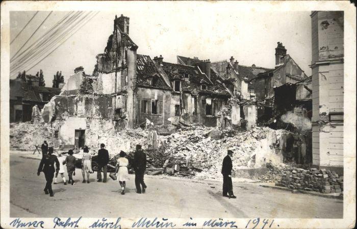 Melun Grand Rue Saint-Etienne Ruines *