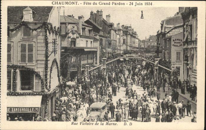 Chaumont Fete Grand-Pardon Rue Victoire Marne *