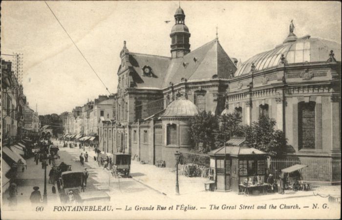 Fontainebleau Grande Rue Eglise  *