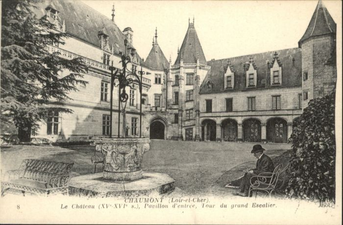 Chaumont Chateau Pavillon d'Entree Tour du grand Escalier *