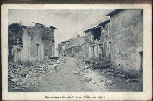 Ypern Zerschossene Ortschaft *