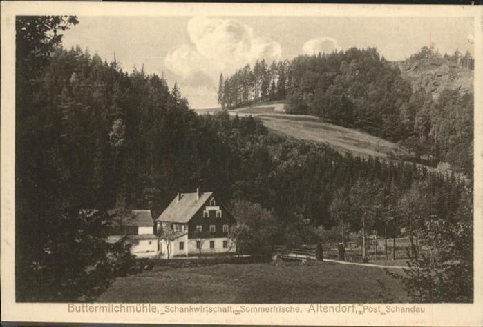AK / Ansichtskarte Altendorf Post Schandau Buttermilchmuehle *