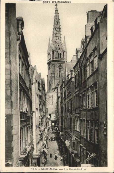 AK / Ansichtskarte Saint-Malo la Grande-Rue *