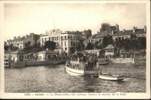 AK / Ansichtskarte Lorient le Debarcadere des bateaux faisant le service de la Rade *