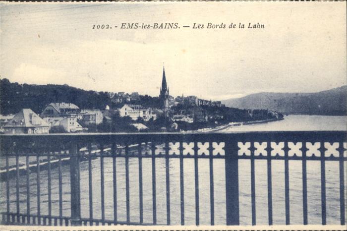 AK / Ansichtskarte Ems-les-Bains Les Bords de la Lahn *