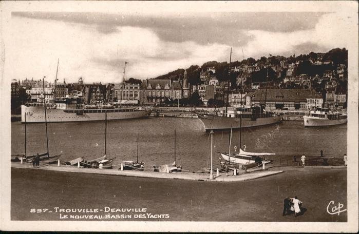 AK / Ansichtskarte Trouville Deauville Bassin Yachts *