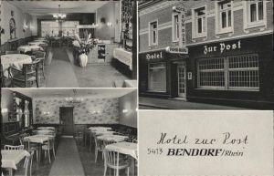 AK / Ansichtskarte Bendorf Hotel zur Post *