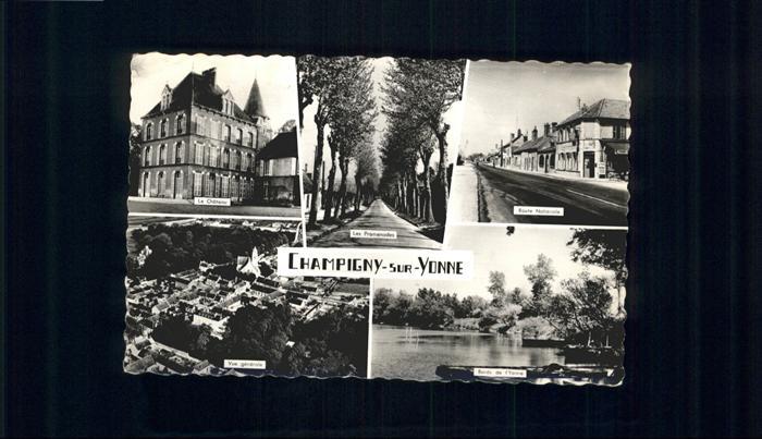Champigny-sur-Yonne Chateau Route Nationale Bords x