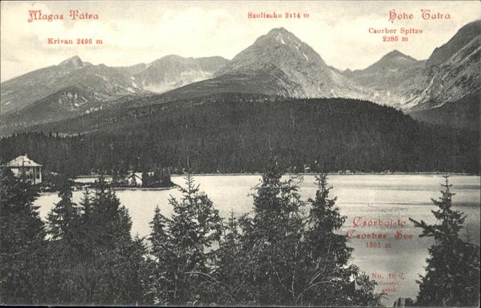 Magas-Tatra Hohe Tatra /  /