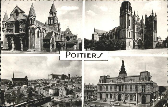 AK / Ansichtskarte Poitiers Vienne Eglise N. D. la Grande Cathedrale St. Pierre Eglise St. Radegonde /  /