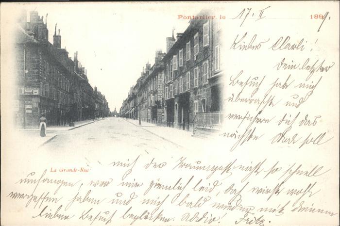 AK / Ansichtskarte Pontarlier Grande-Rue /  /