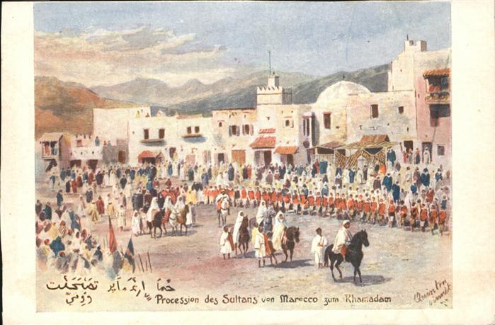 AK / Ansichtskarte Marokko Procession des Sultans Pferd  /  /