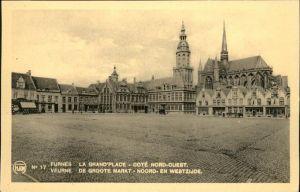 Furnes La Grand Place Cote Nord-Ouest Markt Kat.