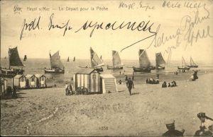 Heyst-sur-Mer Le Depart pour la Peche Kat.