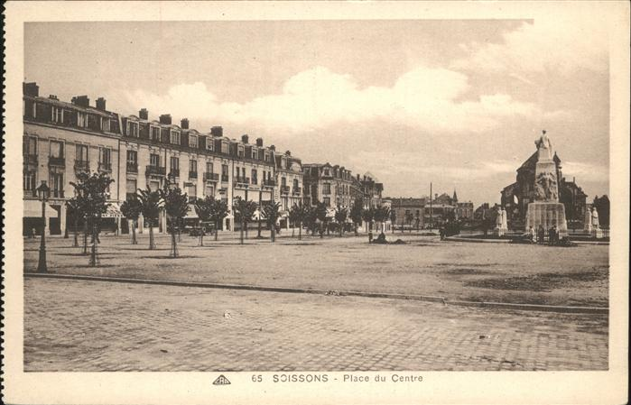 Soissons Place du Centre Kat. Soissons