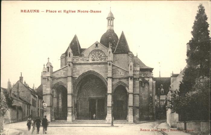 Beaune Place Eglise Notre Dame Kat. Beaune