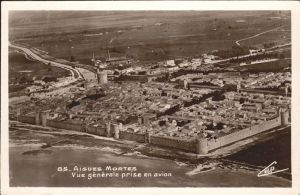 Aigues-Mortes Vue generale en avion