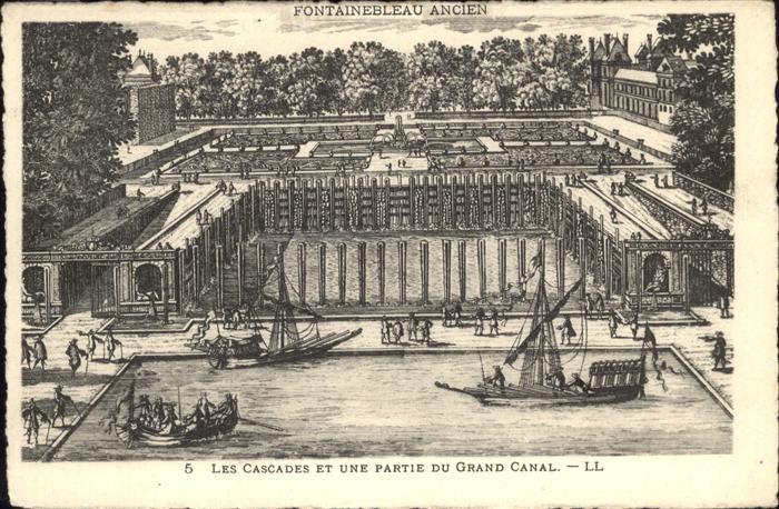 Fontainebleau Cascades Grand Canal Kat. Fontainebleau