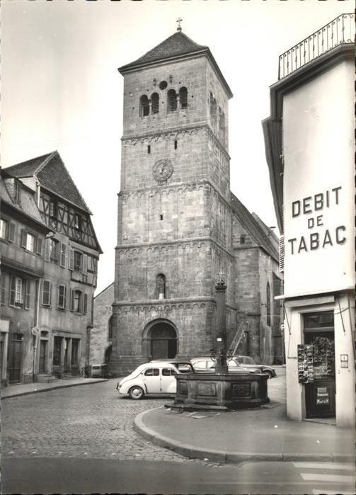Saverne Eglise Paroissiale Debit de Tabac Brunnen Kat. Saverne