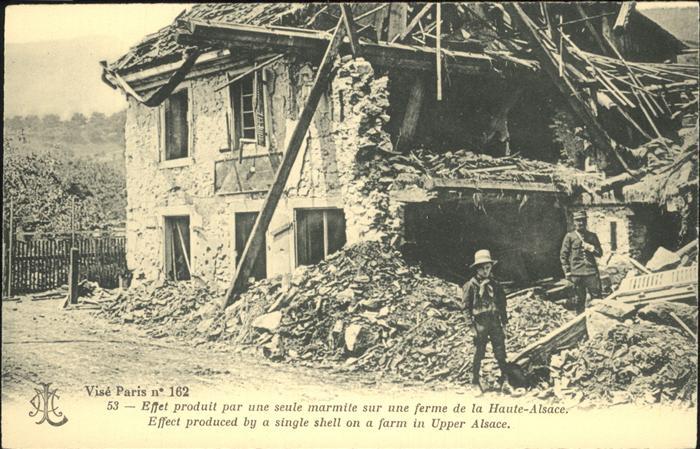 Alsace Zerstoerte Ferme Ober-Elsass Kat. Sewen