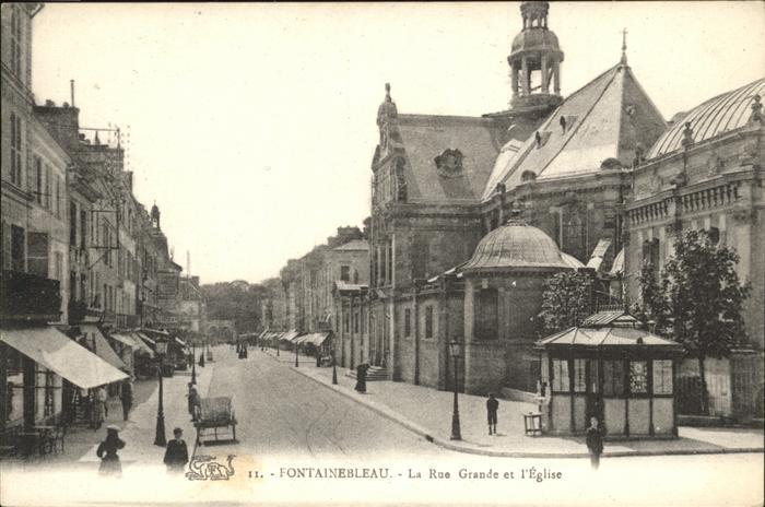 Fontainebleau Rue Grande Eglise Kat. Fontainebleau