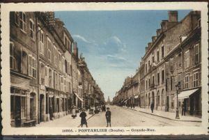 Pontarlier Grande Rue Kat. Pontarlier