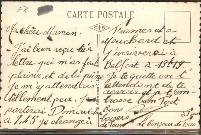Pontarlier Grande Rue Kat. Pontarlier 1