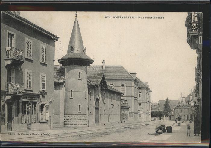 Pontarlier Rue Saint Etienne Kat. Pontarlier