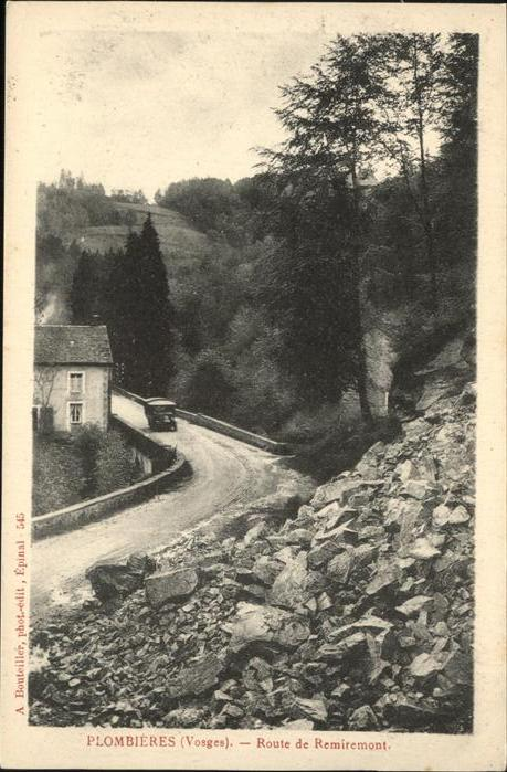 Plombieres-les-Bains Route de Remiremont Auto Kat. Plombieres-les-Bains