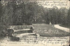 Compiegne Parc Banc de Napoleon /  /