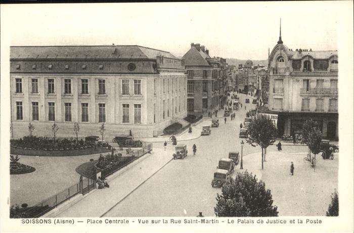 Soissons Place Centrale Palais de Justice Kat. Soissons