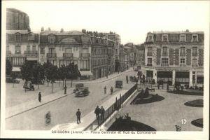 Soissons Place Centrale Rue du Commerce Kat. Soissons