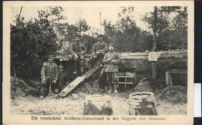 Soissons Versteckter Artillerieunterstand bei Soissons Kat. Soissons