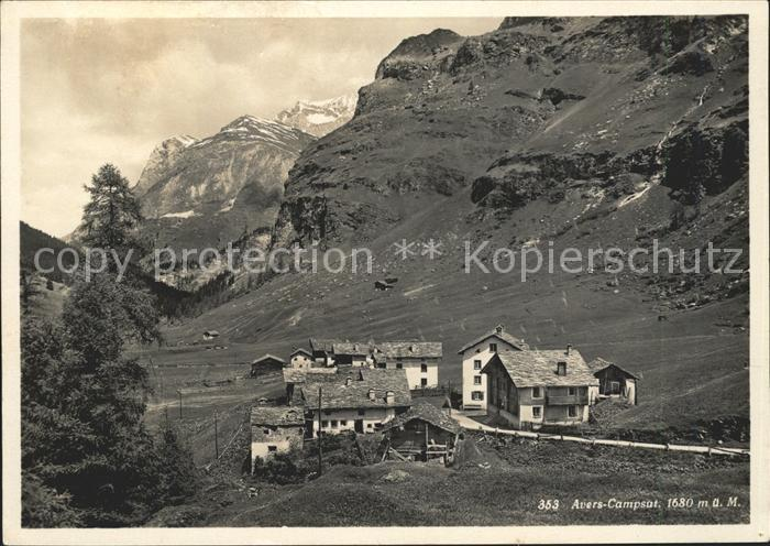 Avers Gasthaus zur Post Kat. Juf