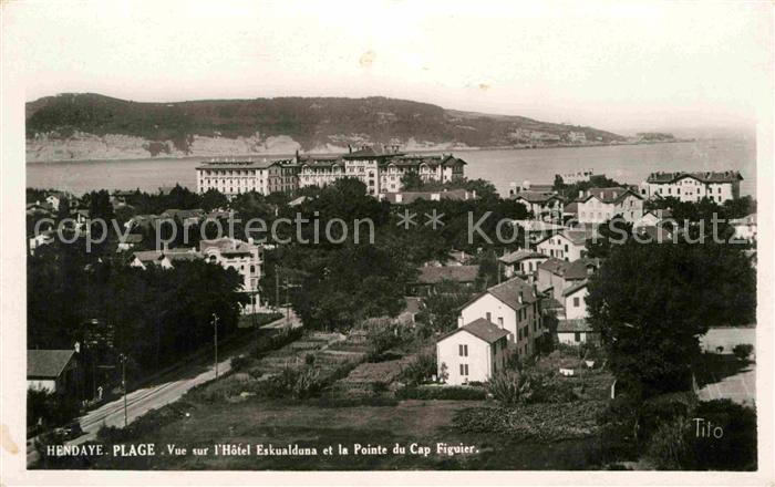 Hendaye Pyrenees Atlantiques Teilansicht Hotel Eskualduna Kat. Hendaye