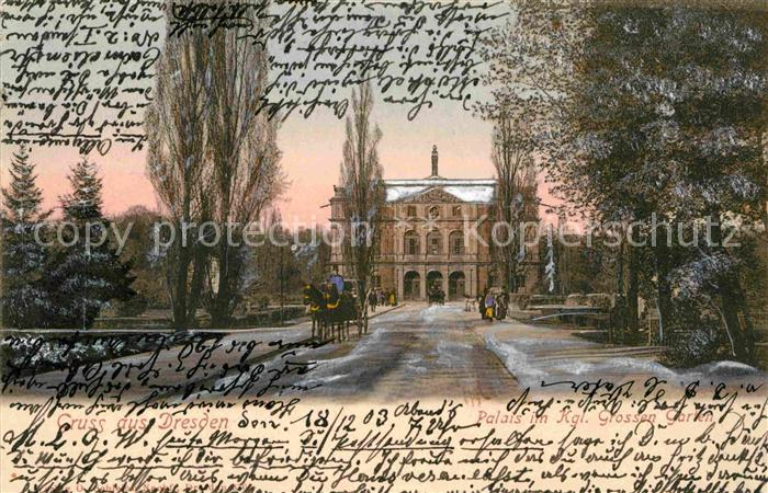Dresden Kgl Palais im Grossen Garten Kat. Dresden Elbe