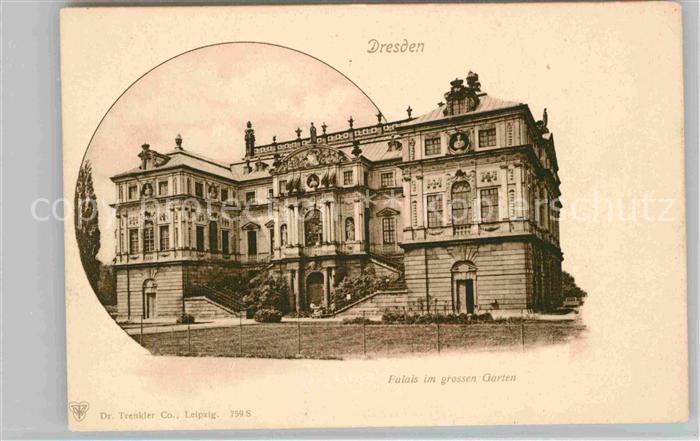 Dresden Palais im Grossen Garten Kat. Dresden Elbe
